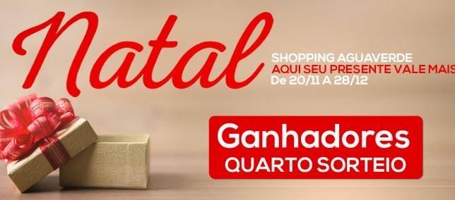 Natal Shopping Aguverde  - 4º Sorteio.