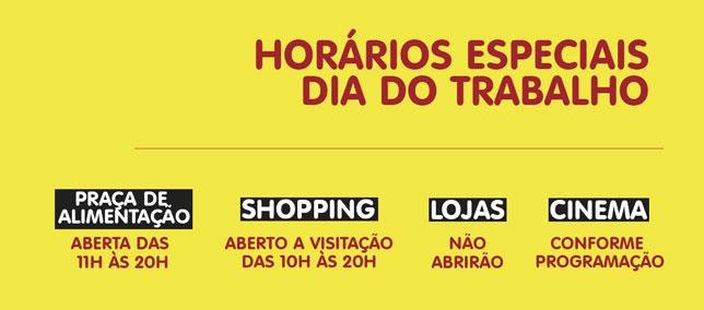 Confira os horários especiais do Shopping AguaVerde para o Dia do Trabalho