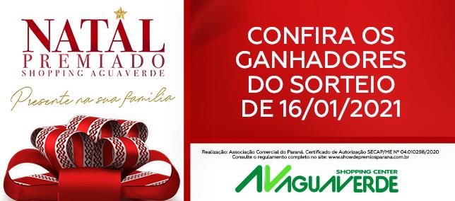 Natal Premiado Shopping AguaVerde - Ganhadores